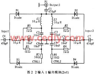 一种新型利用pindiodes的4输入2输出射频开关的设计