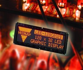 新型128x32 LED�D形�@示屏(Vishay)