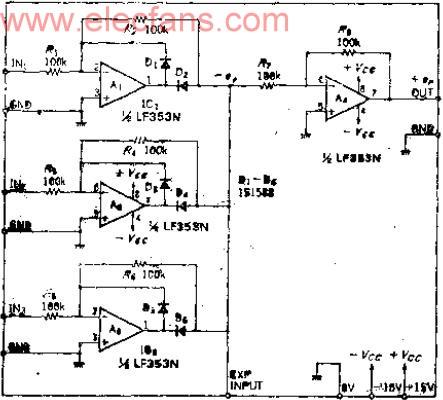 """3路模拟输入""""或""""峰值选择电路"""