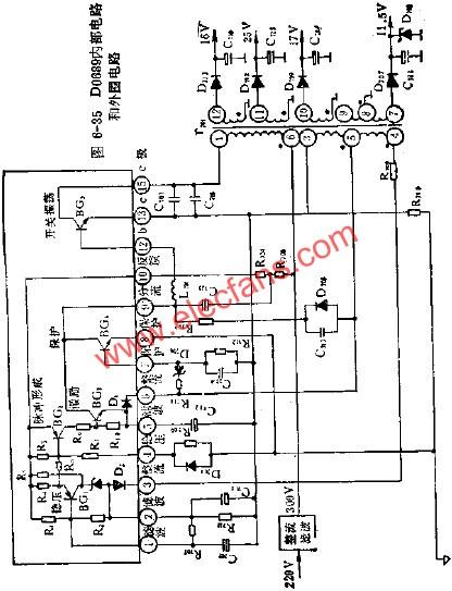 D0689电源集成电路的应用电路图