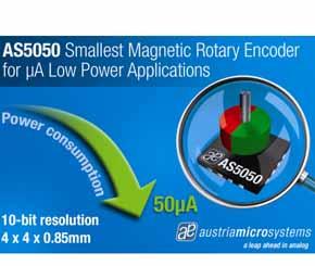 奥地利微电子推出AS5050旋转编码器