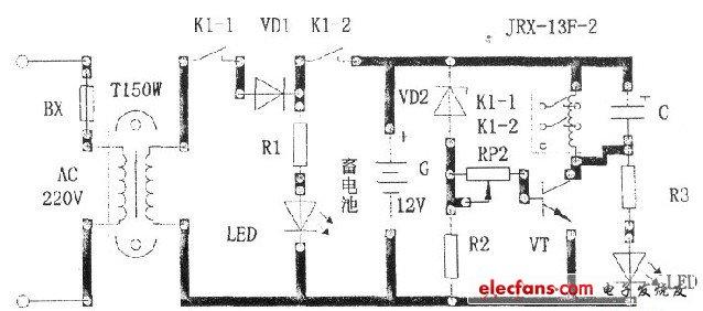 简单实用的蓄电池自动充电保护装置设计