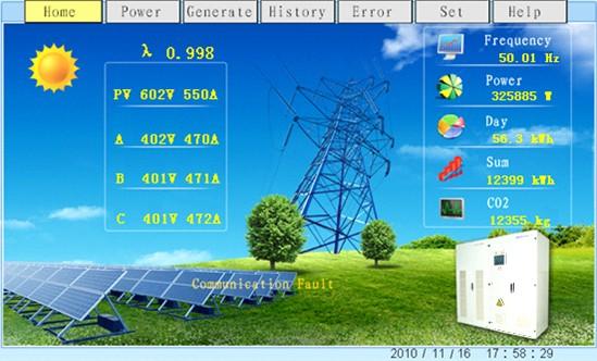 WEINVIEW触摸屏在太阳能光伏并网逆变器中的应用
