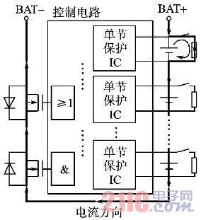 多节锂电池串联的电池保护板实现方案