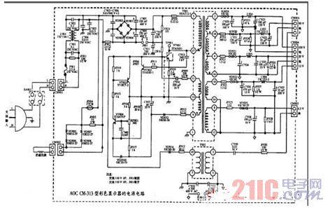 显示器电源电路图
