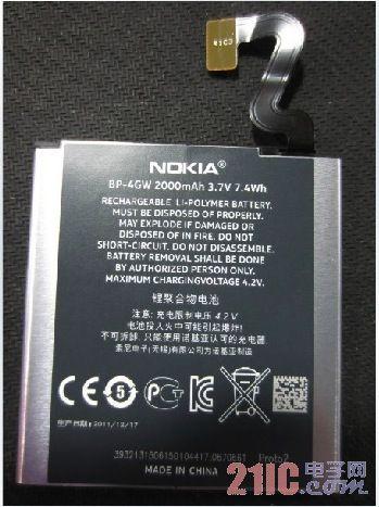 [图]诺基亚Lumia 920改为采用聚合物锂电池?