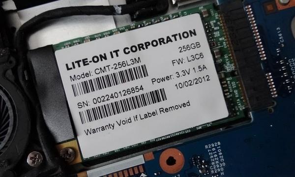 宏基S7超级本惊现双主控mSATA SSD 速度近900MB/s