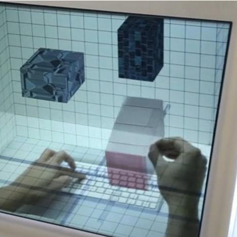 透明显示屏让科幻场景融入生活