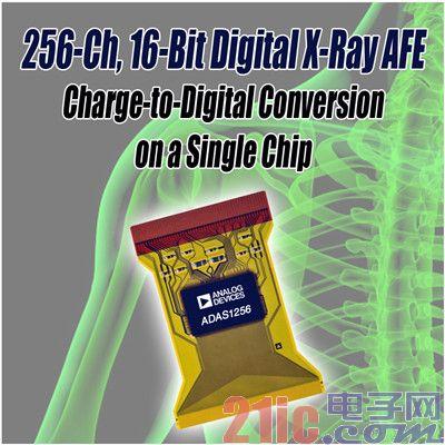 ADI 推出256通道、16位X射线数字模拟前端