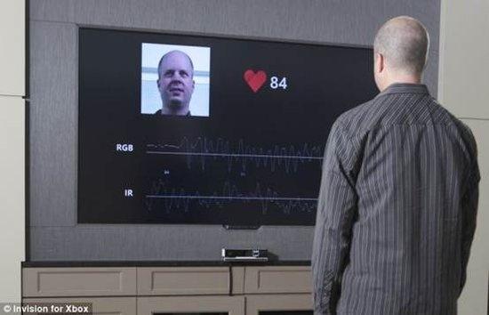 微软新Kinect体感装置可隔空监测人体心率