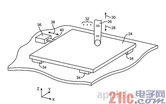 苹果再曝触摸板新专利:集成力传感器和触觉反馈调节器