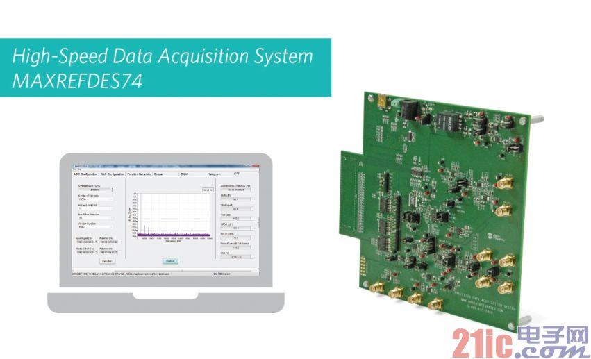 Maxim推出高速、18位数据采集系统(DAS)参考设计MAXREFDES74