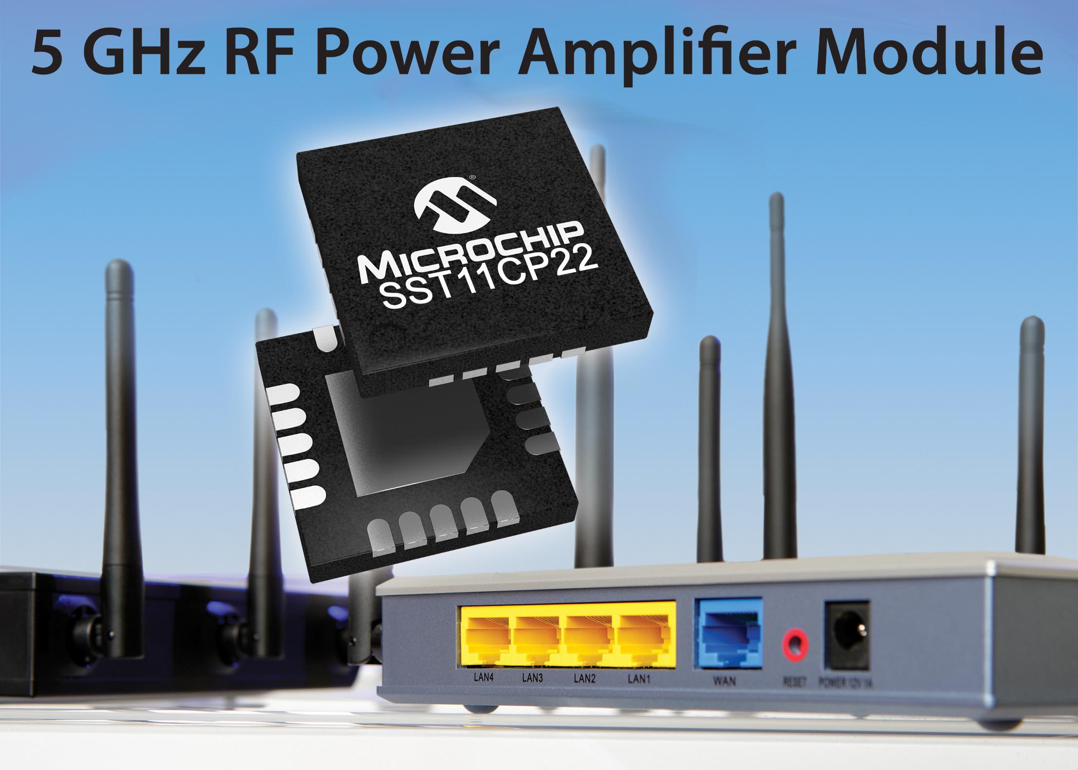 Microchip推出基于IEEE 802.11ac Wi-Fi标准的功率放大器模块