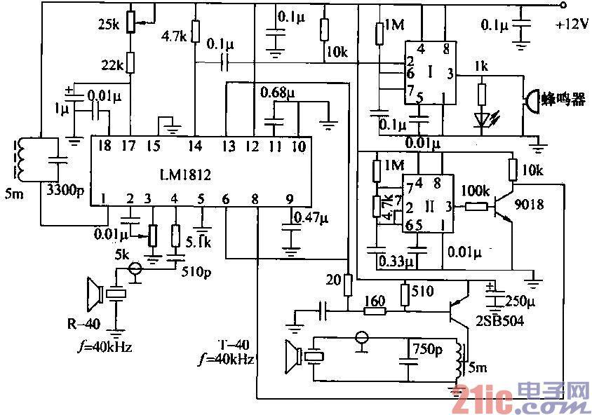 采用LM1812的超声波防碰撞电路设计