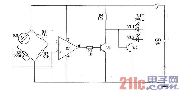 湿度指示器电路图