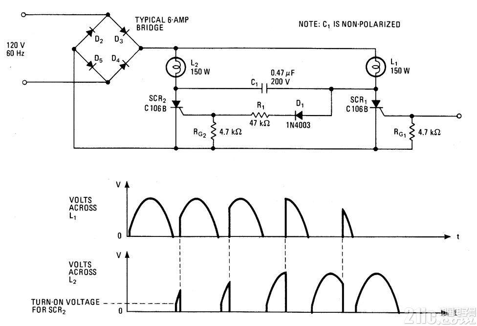 互补型灯光控制电路图