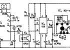 LCD数字钟整点语音自动报时器电路图