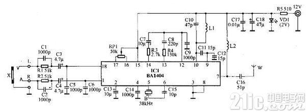 MP3无线转发器制作电路图