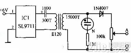 电子冻疮治疗仪电路图