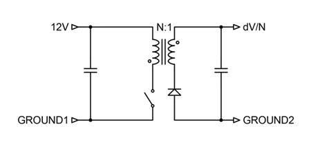 图 2:产生 dV/N 伏电压的基本隔离反激式电路