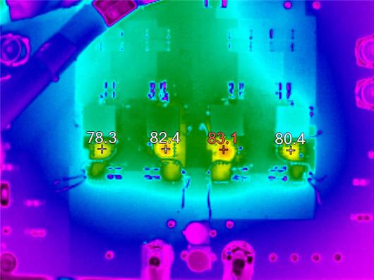 图 3:四通道稳压器的热扫描