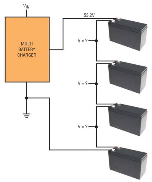 图 1:电池组顶端电压并非均匀地分配在电池组中的各个电池上