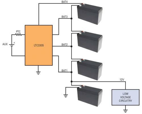 图 4:低电压电路可从中间节点来供电