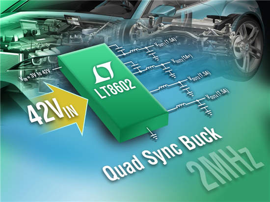 汽车电子系统促进对多通道同步降压型转换器的需求