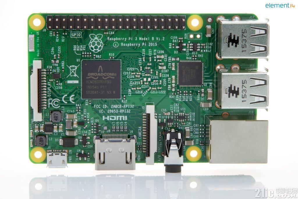 """e络盟率先推出第三代树莓派 首款""""开箱即用的准物联网级""""开发板"""