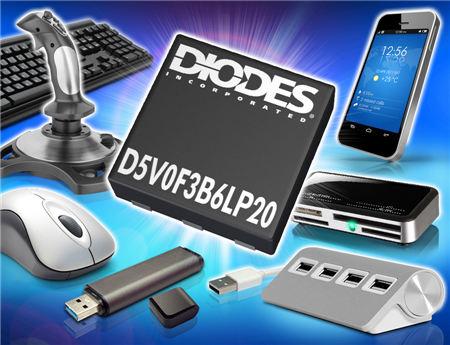 Diodes 推出 TVS 阵列产品 提供USB OTG及电源输出保护