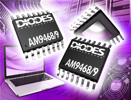 Diodes 推出无刷直流全桥电机驱动器 AM9468/AM9469 提供PWM或DC电压速度控制