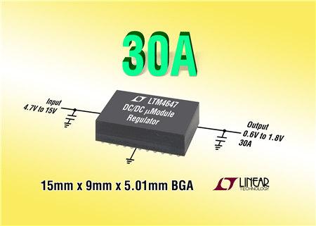 Linear 推出 30A 降压型 μModule 稳压器 LTM4647