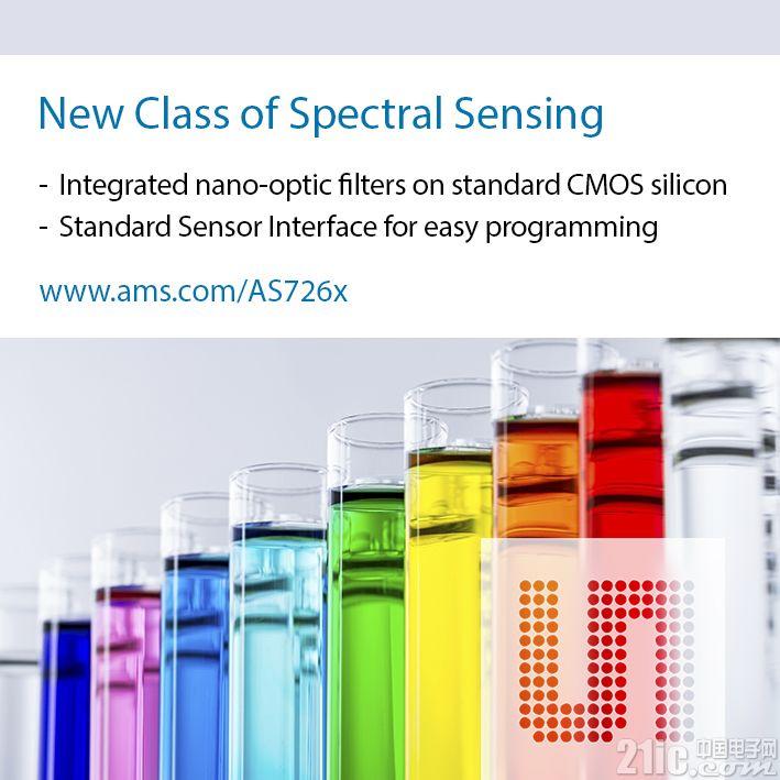 艾迈斯半导体推出全球首款具有突破性晶圆级滤波技术的数字多通道光谱传感器芯片