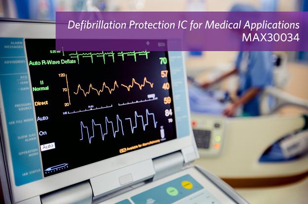 Maxim发布最新除颤脉冲和ESD保护器件
