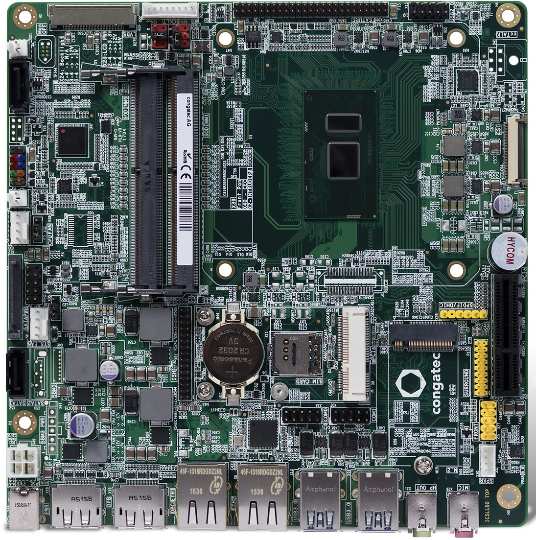 康佳特推出基于第七代英特尔酷睿 U 处理器超薄工业级主板面向物联网连接设备