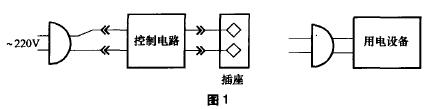 感应保护型安全电源插座电路图