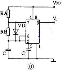555方波振荡电路