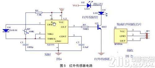 解读ATmega32机器人系统电子电路