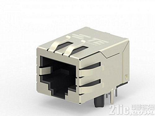 TE推出新型集成变压器的RJ45插座