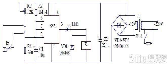 热带鱼缸水温自动控制电路