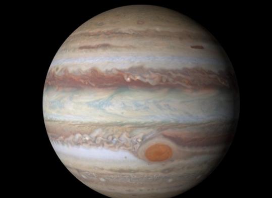 """震惊!NASA发布木星""""愤怒之眼""""最新高清照片"""
