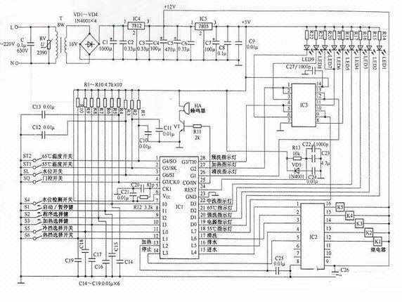 用微处理器如何设计洗碗机电路