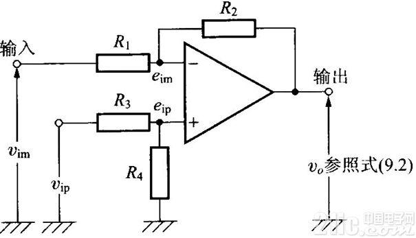高输进阻抗三运放差动放大电路图