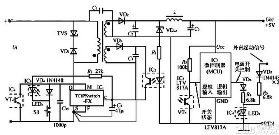 mcu控制的开关电路设计