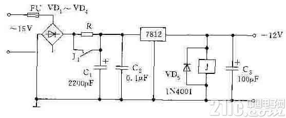 继电器式启动电路图
