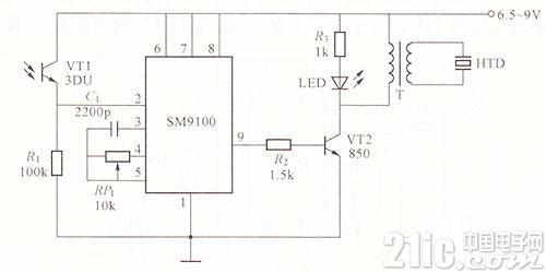 红外线检测器电路图