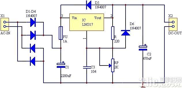 317可调稳压电源套件