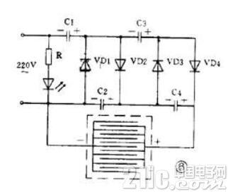 高压电子灭蚊器电路图