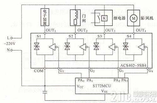 ACS402-5SB4典型应用电路图
