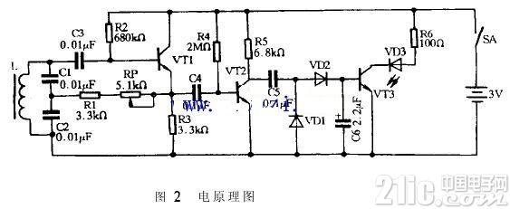 简易金属探测器的制作电路图